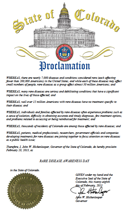 CO RDD Proclamation