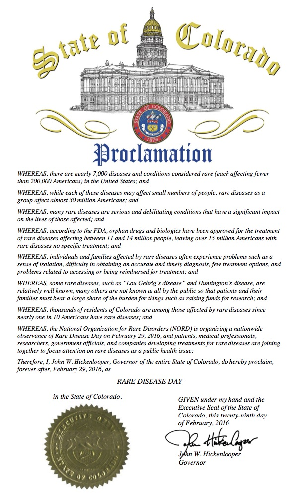 CO RDD 2016 Proclamation
